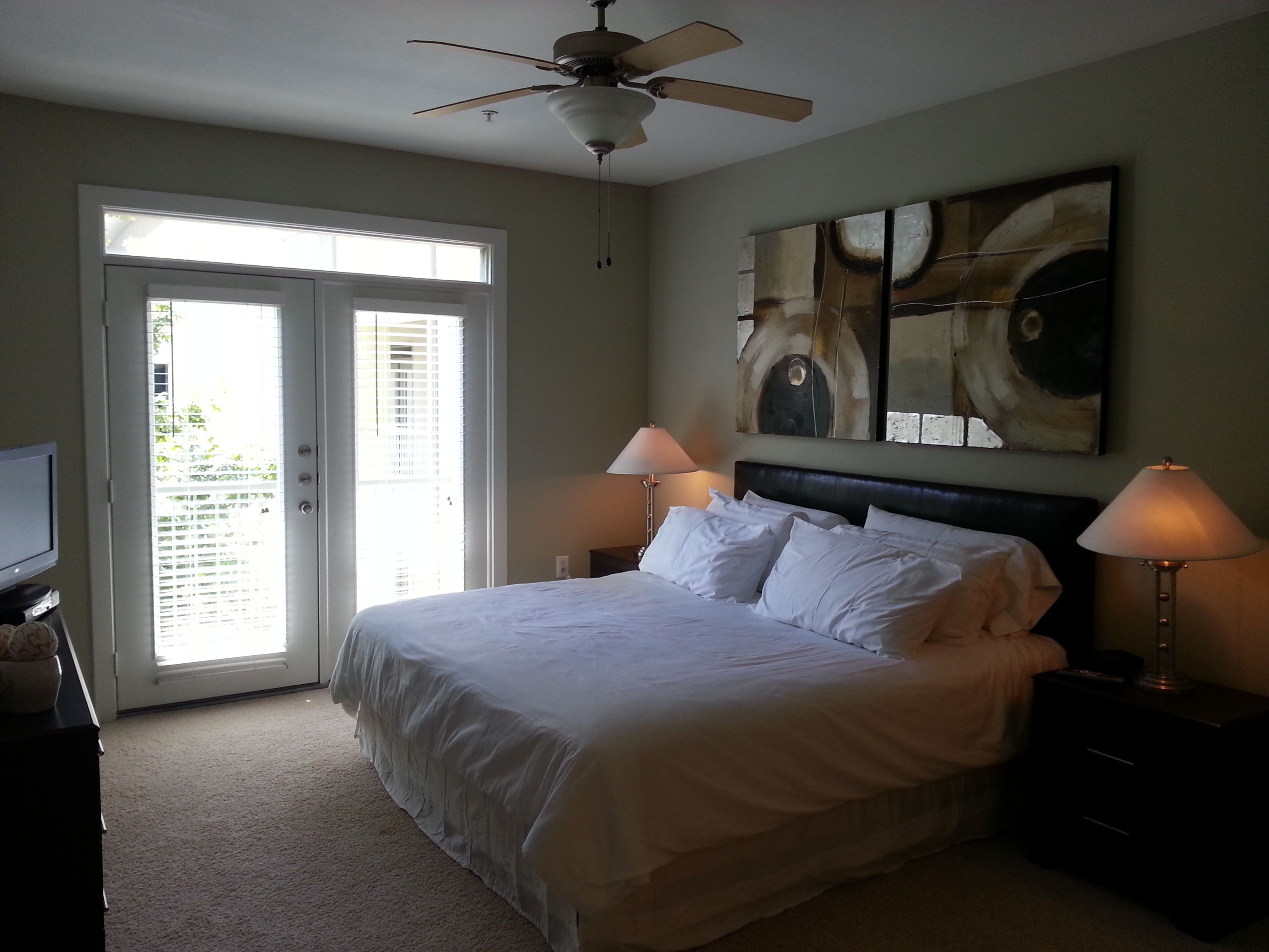 Large Master Bedroom with King Bed One bedroom apartment
