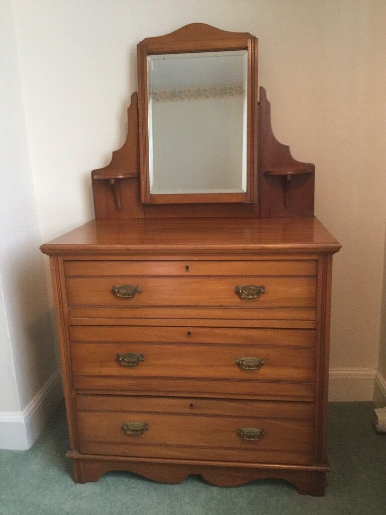 Pin On Antique Vanity With Mirror For Sale