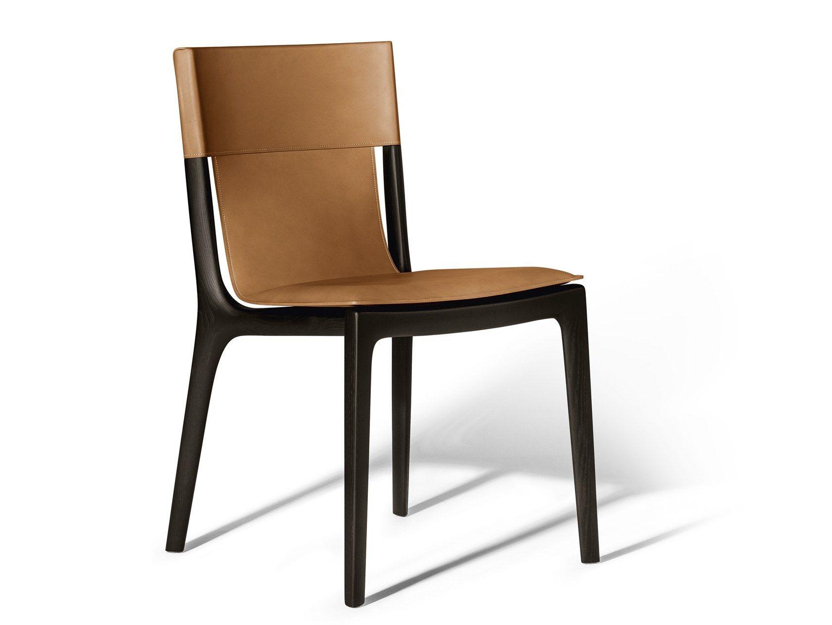 Sedia in cuoio ISADORA by Poltrona Frau | Sedie in pelle ...