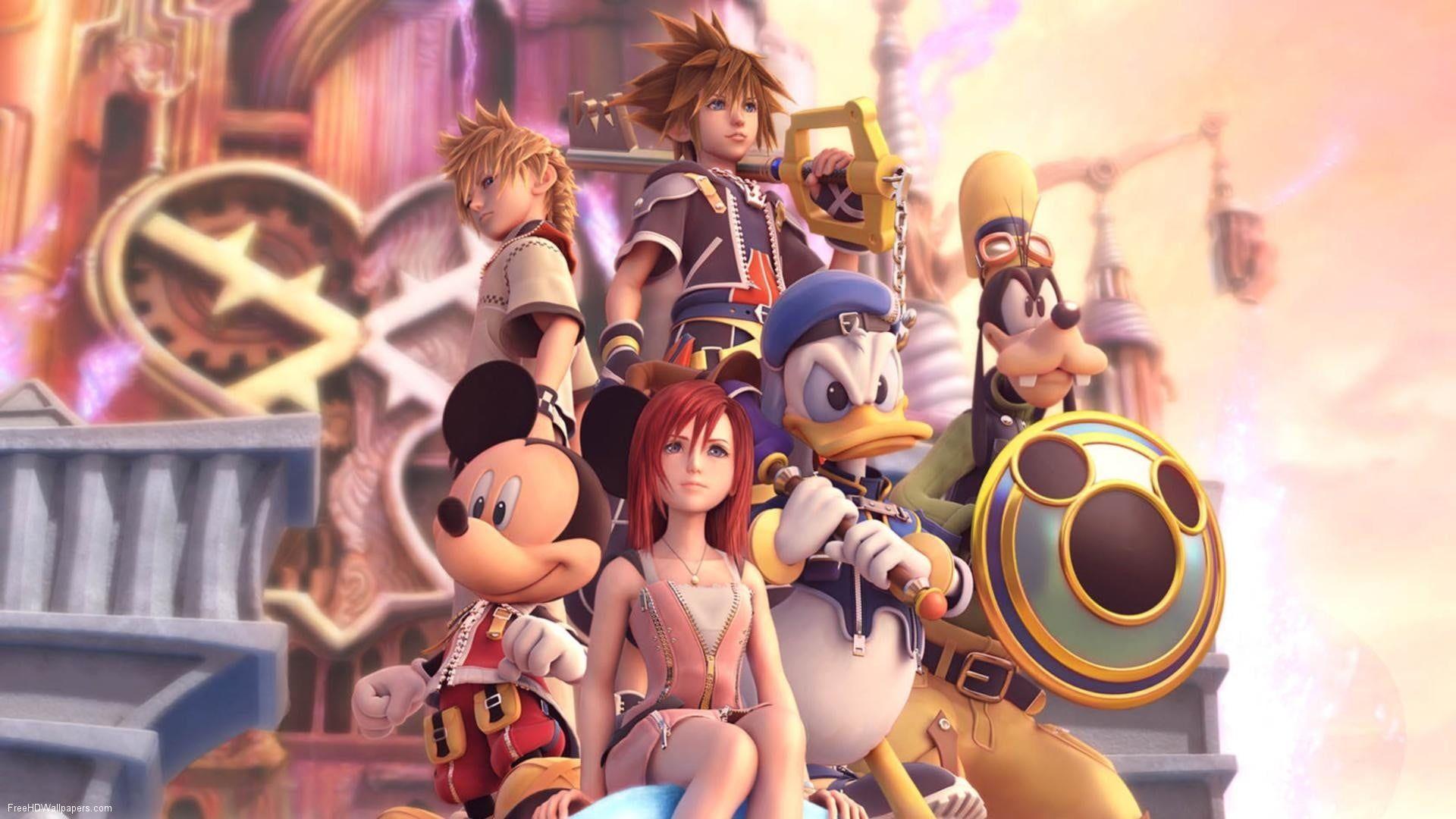 Assorted Disney Characters Illustration Sora Kingdom Hearts Donald Goofy Keys Video Games Kingdo In 2020 Kingdom Hearts Disney Characters Kingdom Hearts Wallpaper