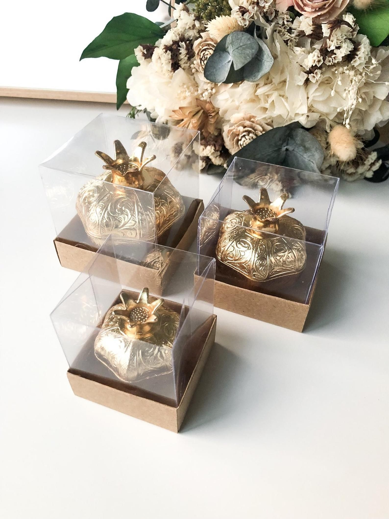 Shabby Chic Square Favor Box Party Box Set of 6 Wedding Favor boxes Rustic Favor DIY Box Favour Box With Lid
