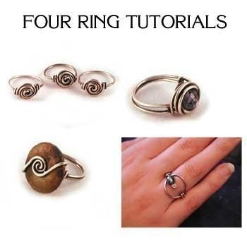 PDF Tutorial Package Four Wire Wrapped Ring Designs | Craftiness ...