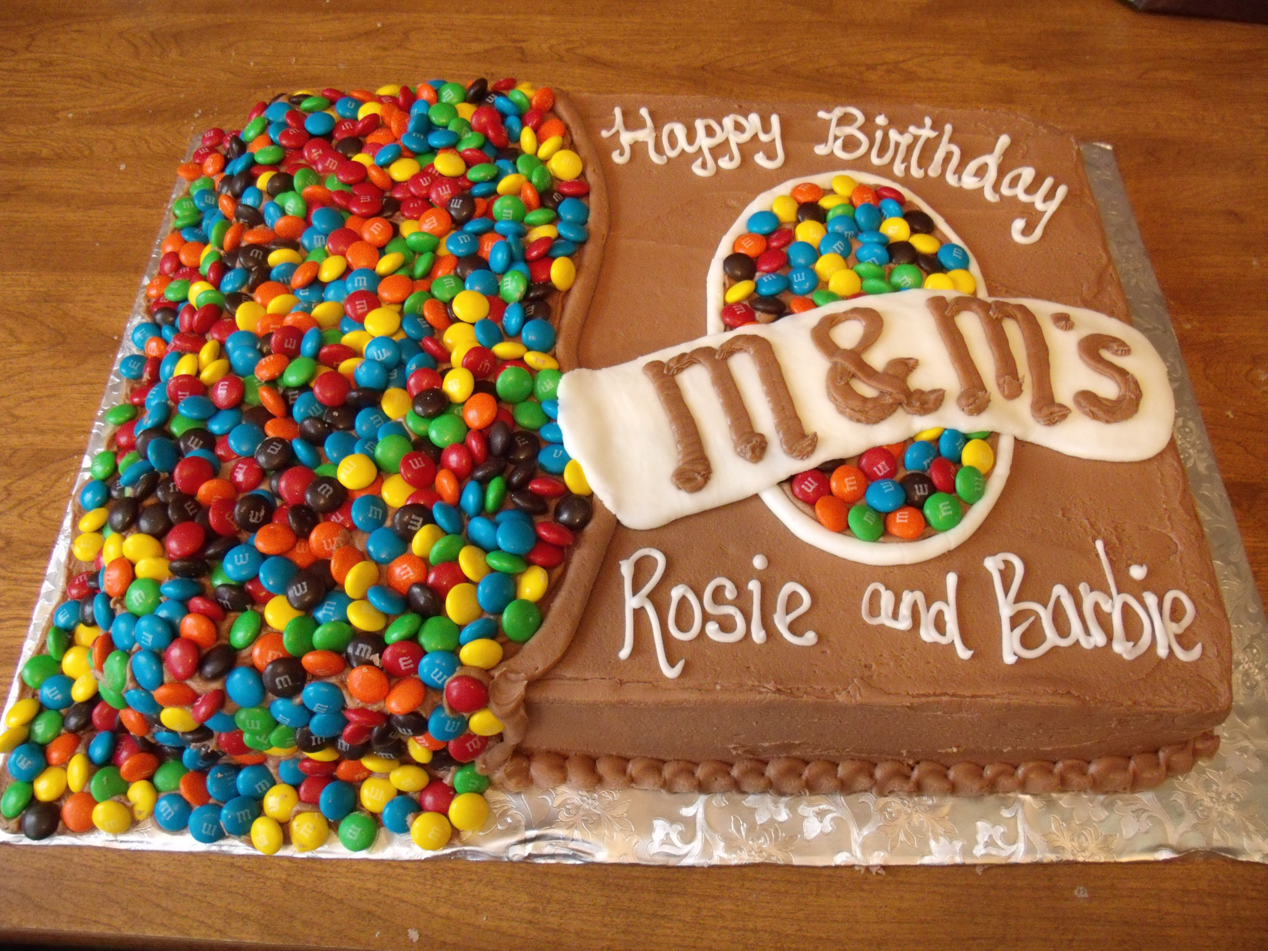 M&M Cake design | TheCakeLady by Michele Heffelfinger | Pinterest ...
