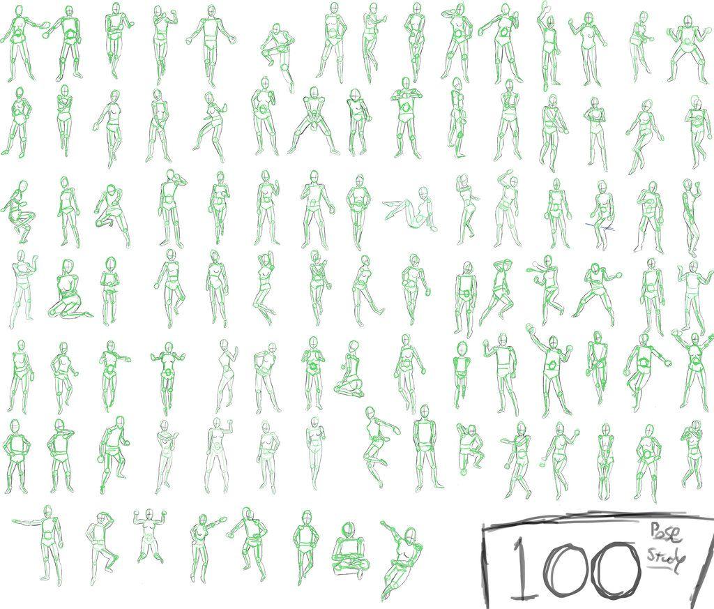 картинки аниме позы:
