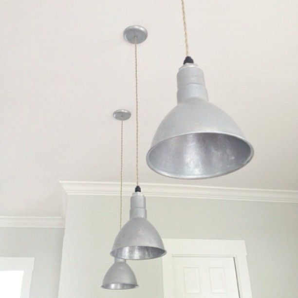 Galvanized Wesco Pendant Lights Look Great Above This