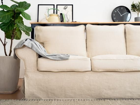 May use the ikea slipcovered sofas, they replace the cushions for comfort. Linen Ektorp Sofa Covers Replacement Sofa Covers for IKEA ...