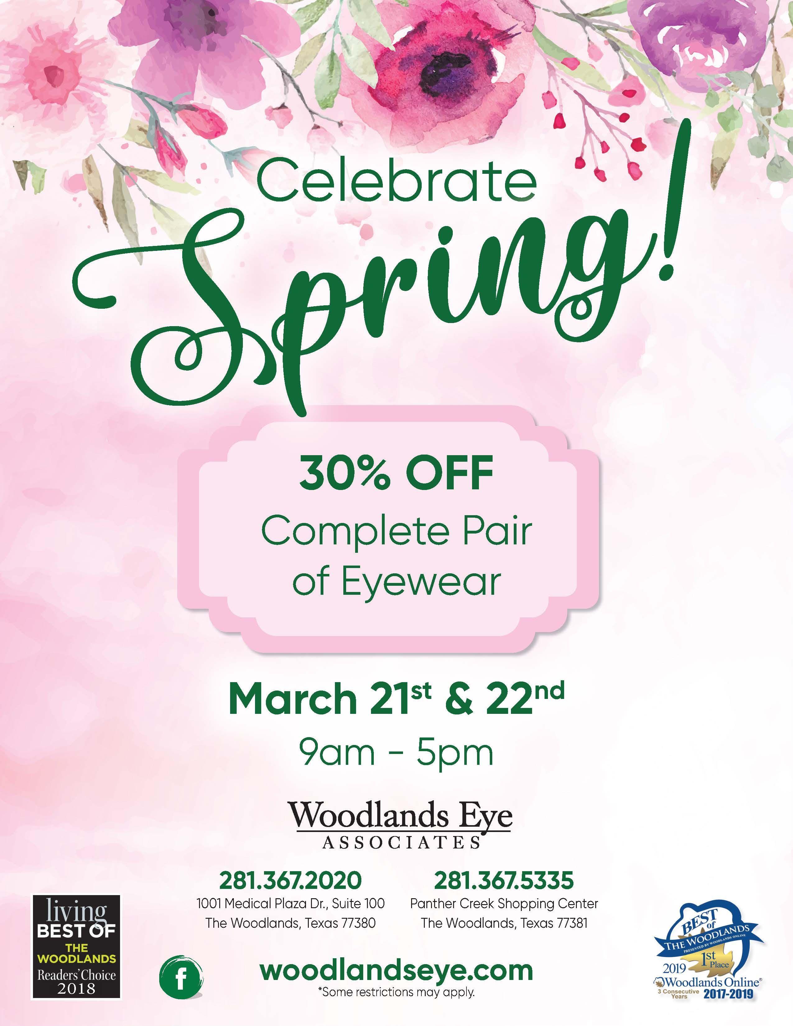 Spring Eyewear Sale! Eye care, Pediatrics, Lasik