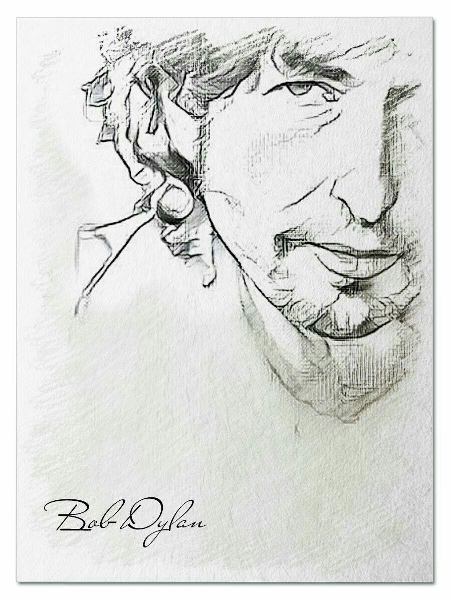 Bob Dylan Inspiration Coloring Pages 0utline Shapes