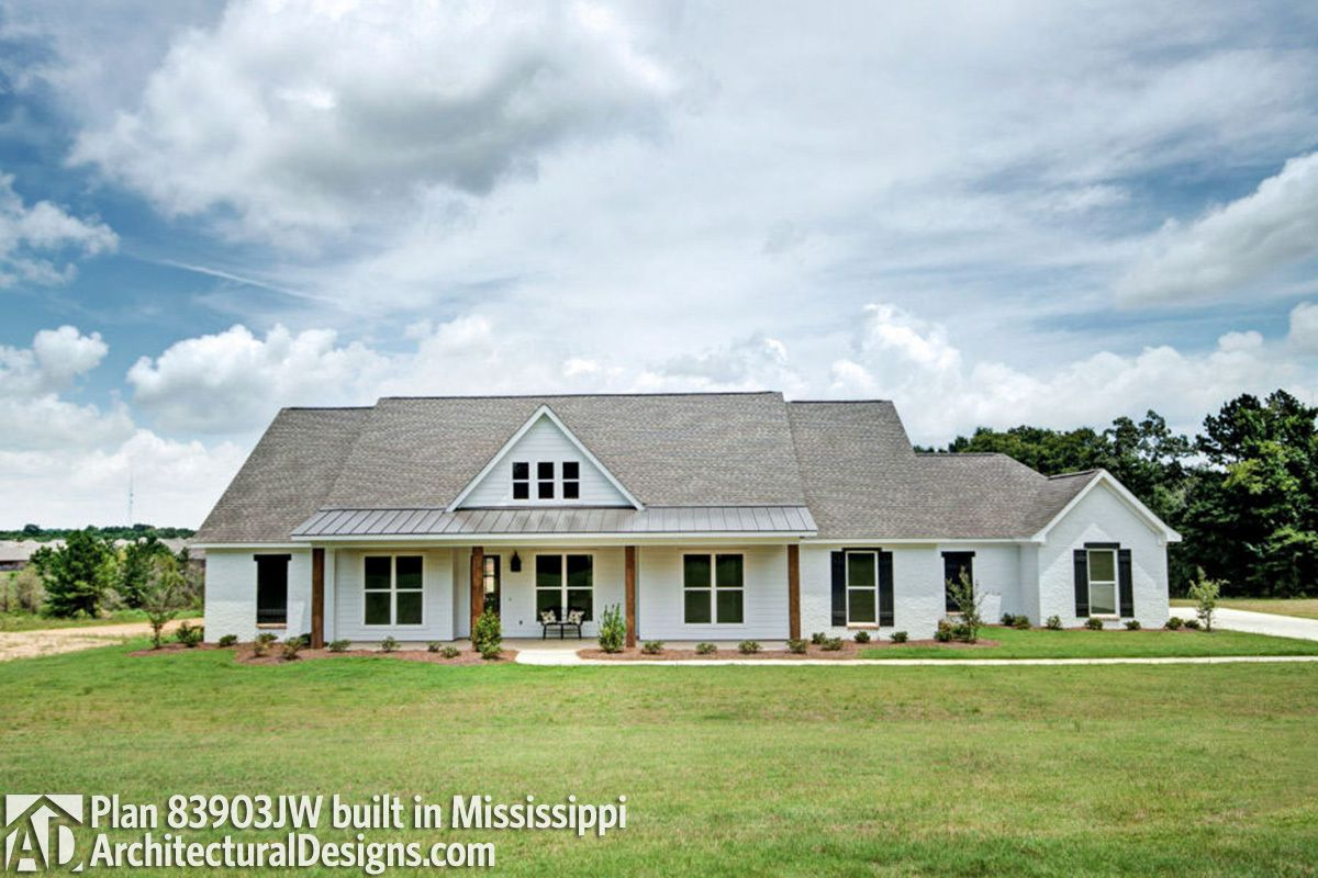 Plan 83903jw One Level Country House Plan Ranch Style House Plans New House Plans Country Style House Plans