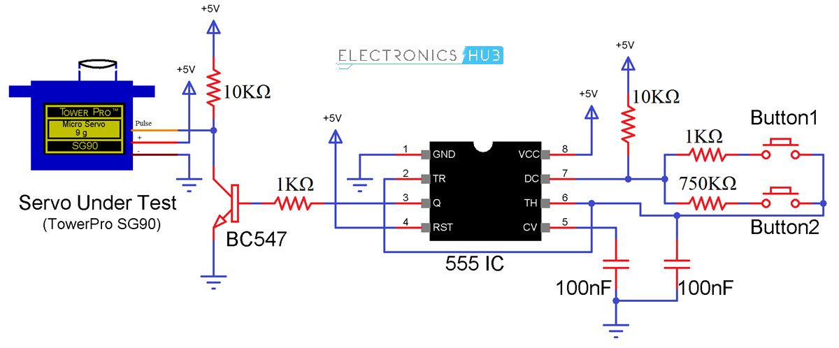 Brilliant How To Make A Simple Servo Motor Tester Circuit Electronics Wiring Digital Resources Counpmognl
