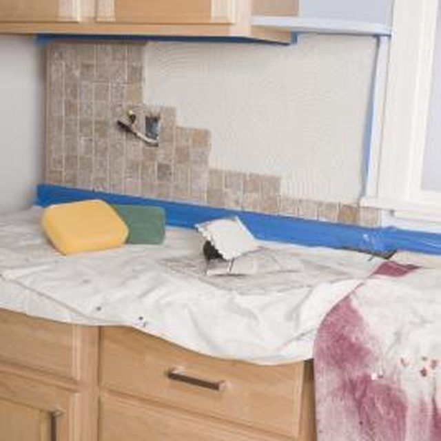 How To Remove A Tile Backsplash Cleanly Remove Tile Backsplash Tile Removal Cleaning Painted Walls