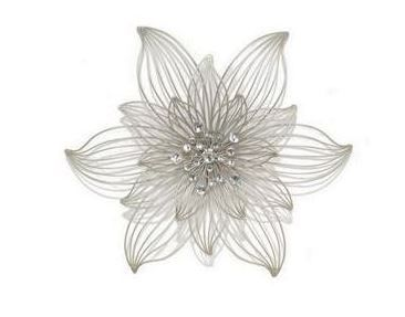 2553 metal flower wall dcor 6899 metal silver flower - Metal Flower Wall Decor