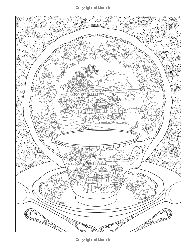 AmazonSmile Creative Haven Tea Time Coloring Book Adult 0800759817467 Marty Noble Books