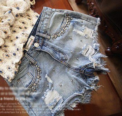 $25.00   Pearl Cotton High waist jeans AB830DD