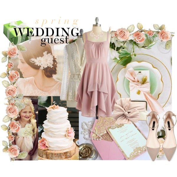 """Spring Wedding Guest"" by mk-style on Polyvore"