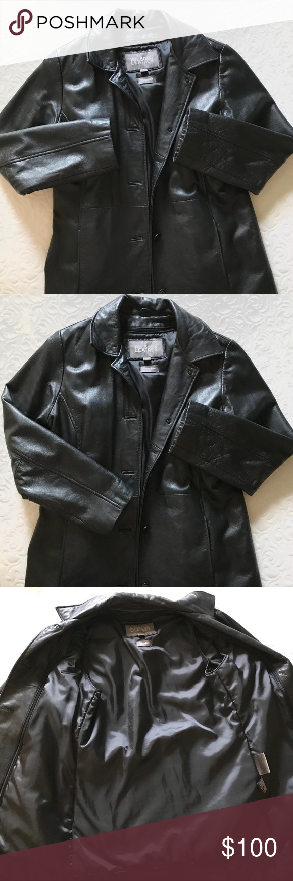 Wilson's Thinsulate Leather 4 button coat Buttery soft