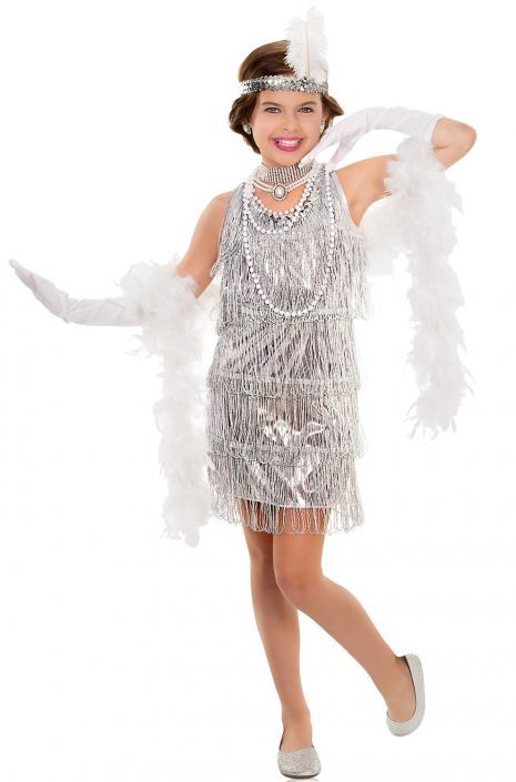 894536cfc Dazzling Flapper Child Costume  1920s  flappers  Halloween  costumes ...