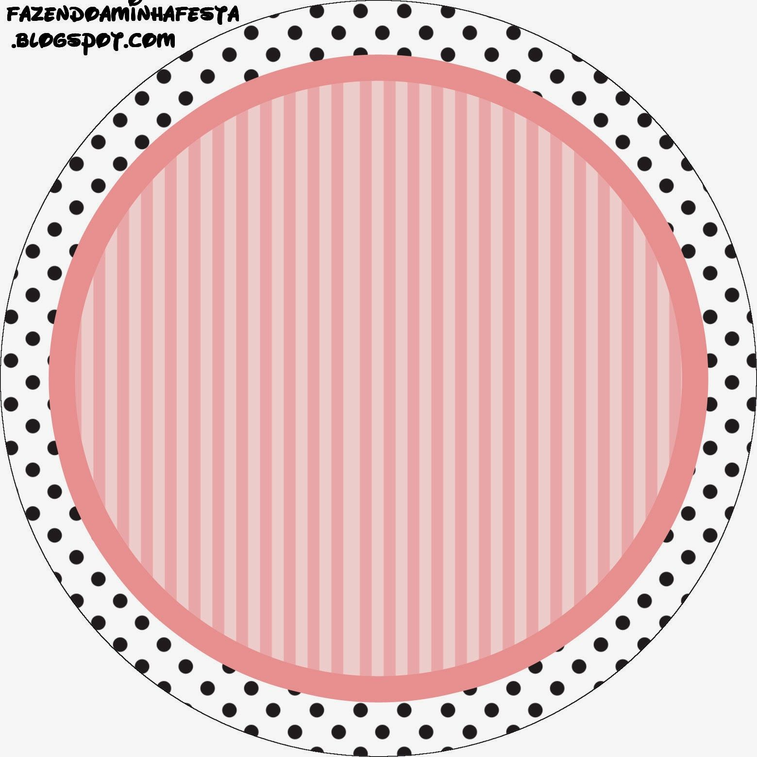 Rayas Rosa y Lunares Negros: Etiquetas para Candy Bar para ...