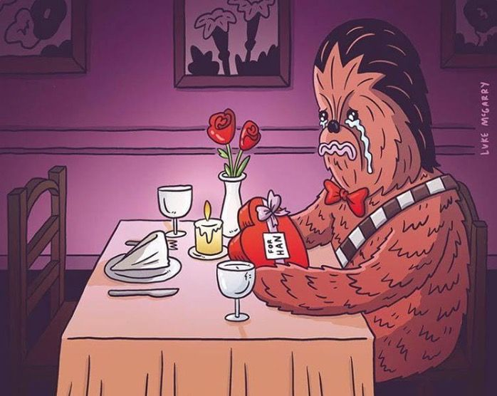 Chewie's first Valentine's Day solo.