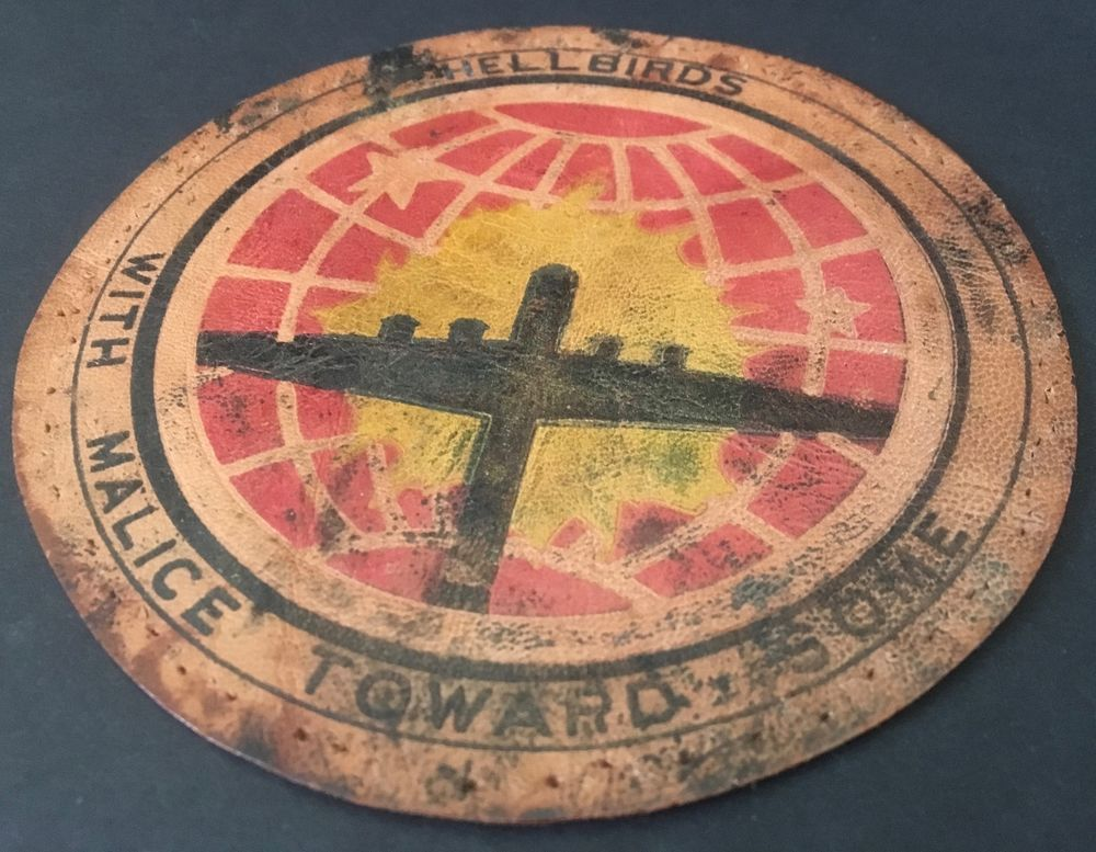 """WW2 US Army Air Force 462nd Bomb Group Patch Printed Leather 4-7/8"""" Dia. AP1063"""