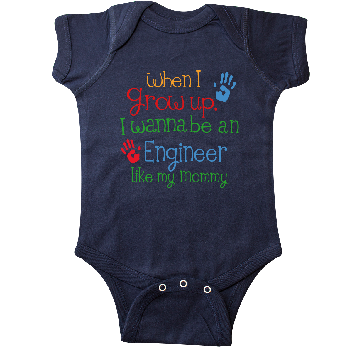 Engineer Like Mommy Infant Creeper Navy $16.99 www.personalizedfamilytshirts.com