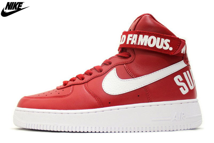 official photos cabad fd36e Mens Nike Air Force One High Supreme SP Shoes Crimson White 698696-610,Nike-Air  Force One Shoes Sale Online