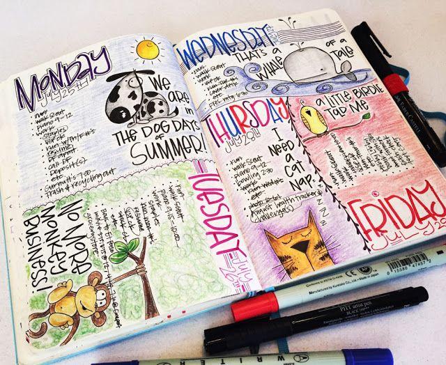 T Matthews Fine Art Bullet Journal Pages 70 71 Journalscrapbook