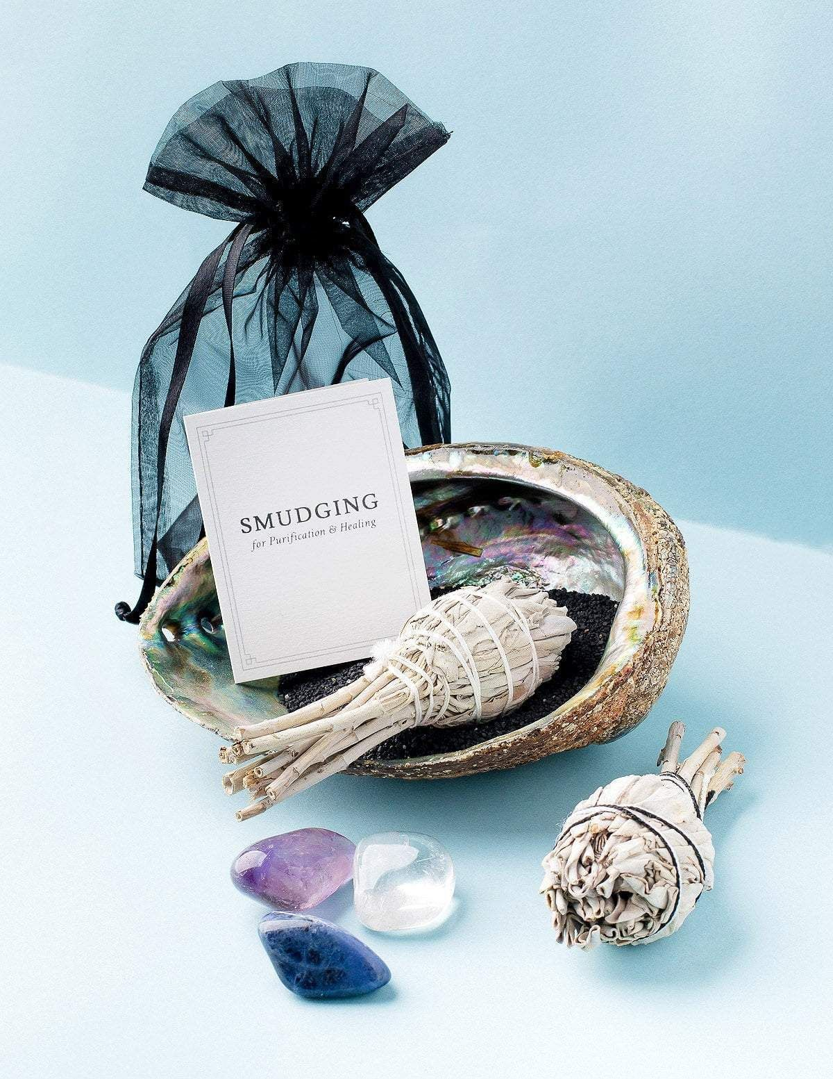 Crystal cleansing smudge set in 2020 cleansing crystals