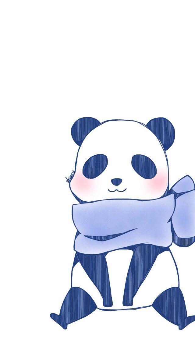 Fond d'écran/ wallpaper super cute panda | PANDALOVE | Panda wallpapers, Christmas panda, Kawaii art