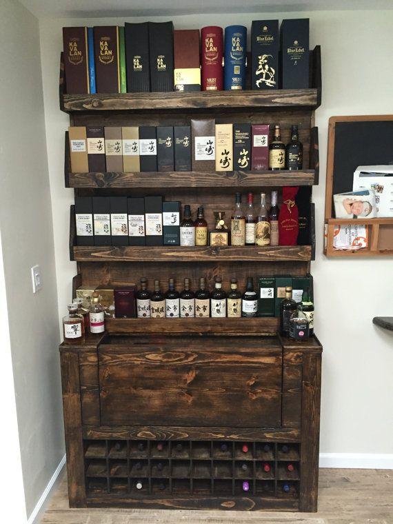 Custom Whiskey Bar and Wine Display | Wine Rack | Whiskey