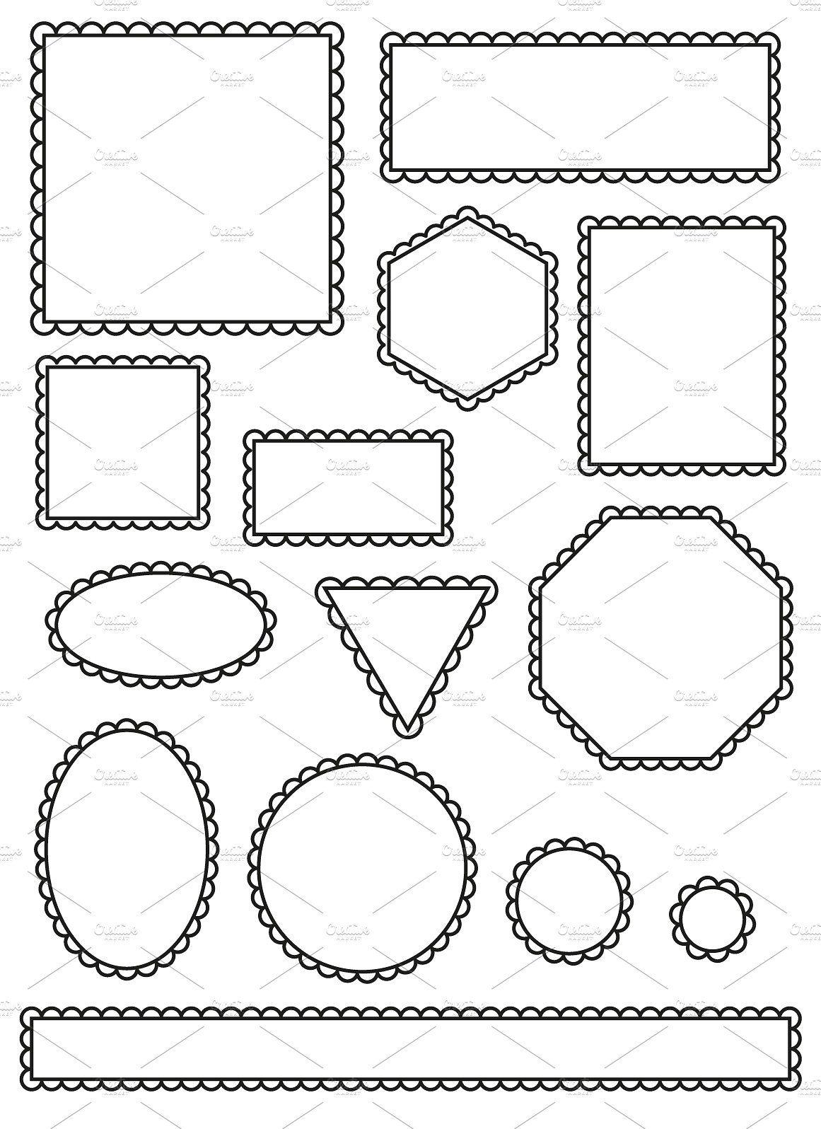 Simple scalloped frames Simple, Illustration design, Frame
