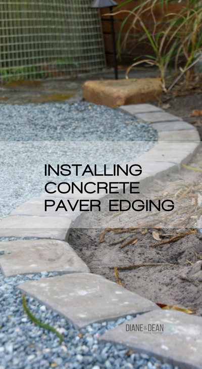 Installing Concrete Paver Edging Paver Edging Landscape Edging Concrete Pavers