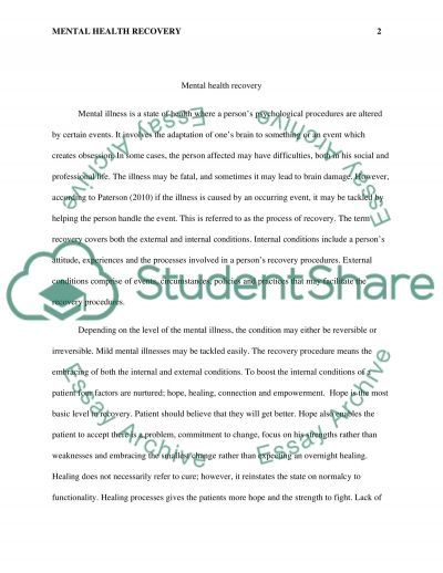 Essay On Helping Someone With Mental Illness   Submission Specialist