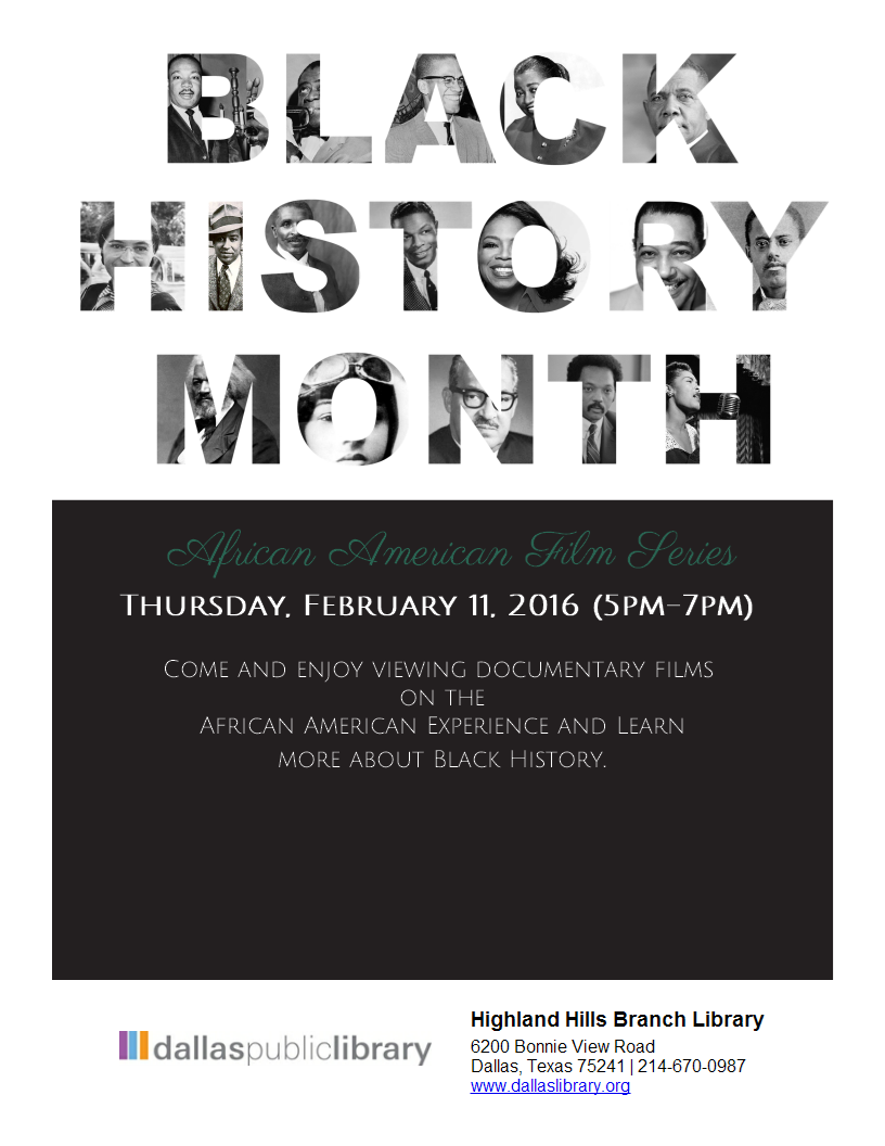 African American Film Series Flyer Made With Libraryaware Library Programs African American Film Library