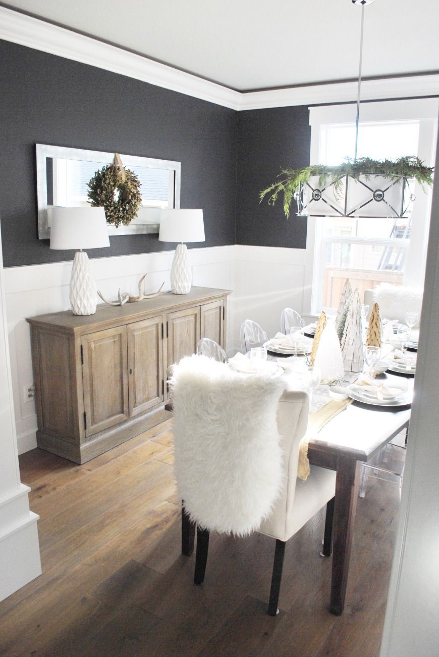 No Matter The Holiday Neutral Paint Colors Are Always In Season This Time Of Year Classic Dining Room Colors Dining Room Paint Colors Dining Room Wall Color