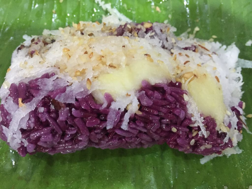 Vietnamese Steamed Sticky Rice With Magenta Juice Wrapped In Banana Leaf Or Xoi La Cam Sticky Rice Food Traditional Food
