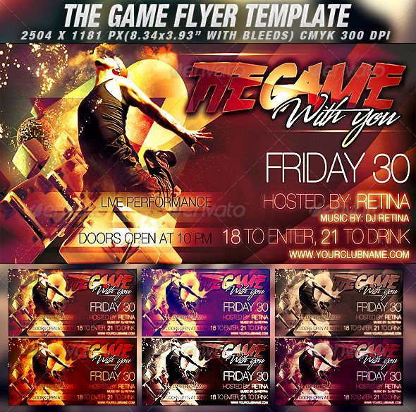 The Game Flyer Template  Flyer Template Template And Party Flyer