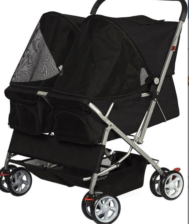 Double Stroller For Dogs Strollers Small Dog Baby Cats Pet