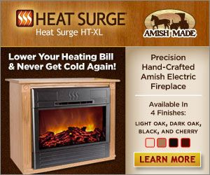 Watch Amish Fireplace Infomercial on The Heat Surge The roll n ...