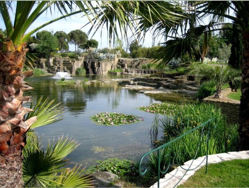 Jardin saint adrien à servian dans lhérault