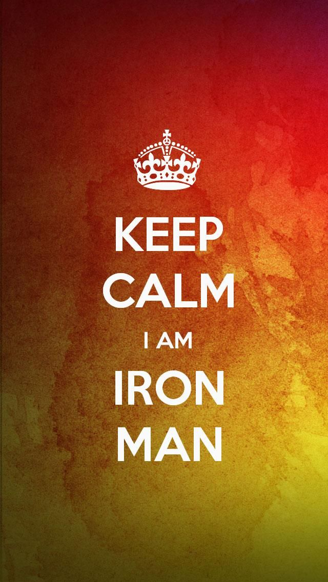 keep calm i am iron man the iphone 5 keep calm wallpaper i just