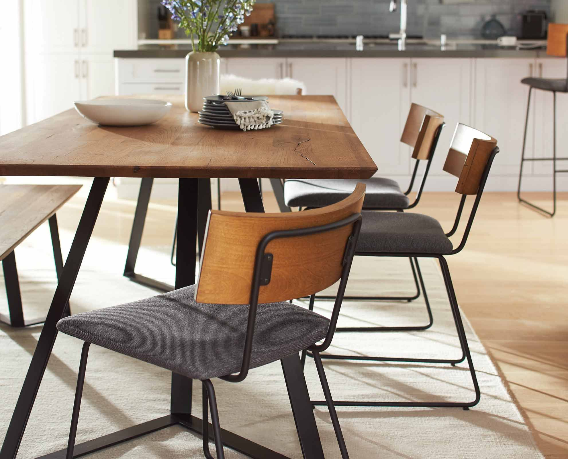 Kelner 71w Dining Table By Scandinavian Designs Set The Scene For Your Next Dinner Party With The Dining Room Industrial Dining Room Design Dining Room Chairs
