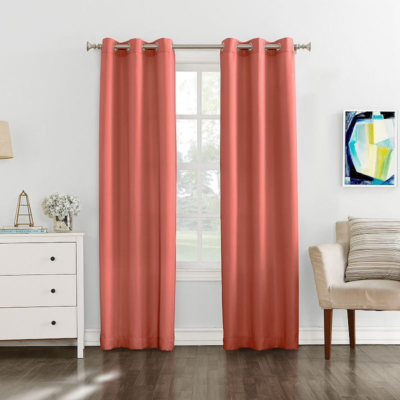 The Big One 2 Pack Decorative Solid Window Curtains Curtains