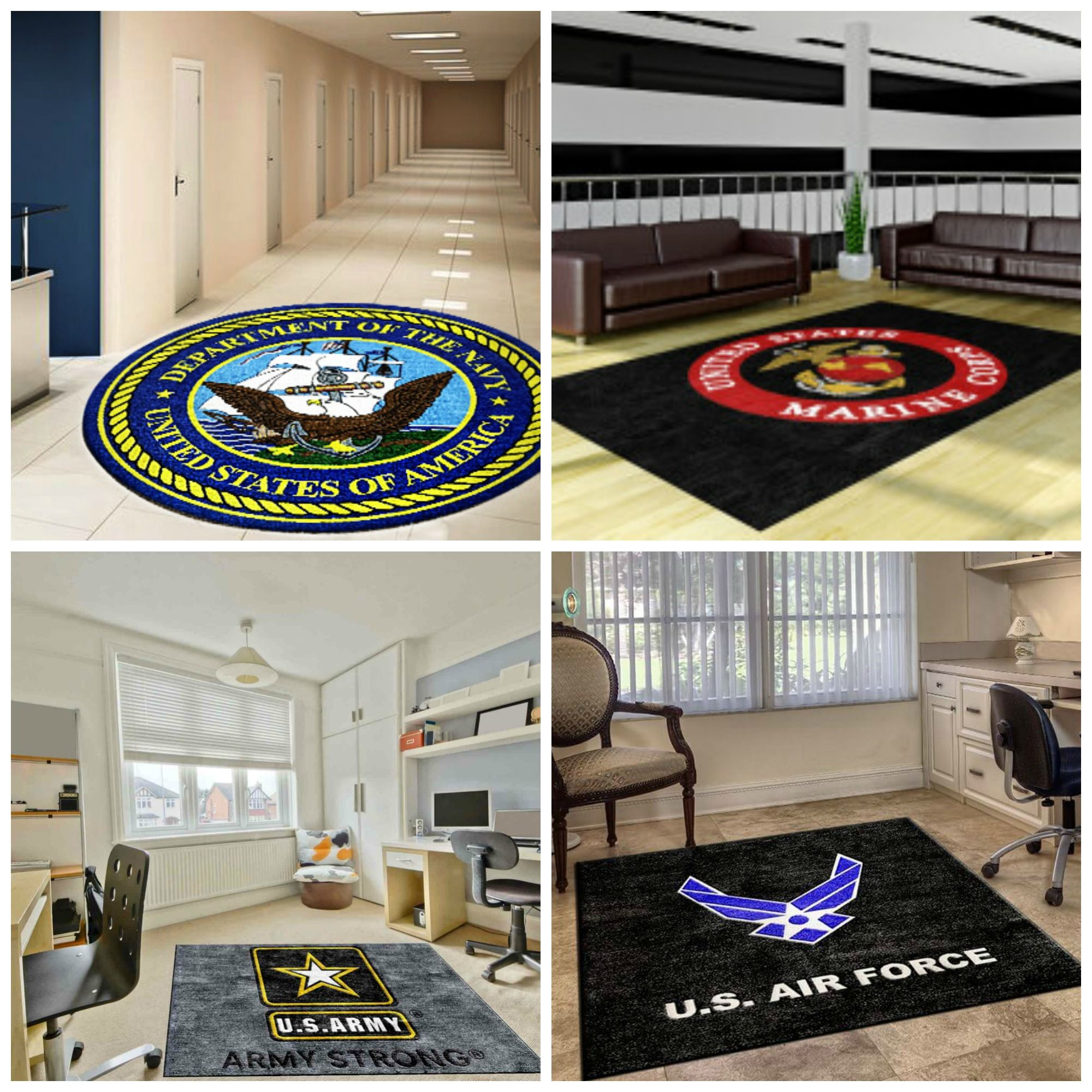 Military Group And Armed Forced Logo Rug Rugs Custom Carpet Military Logo