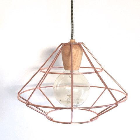Copper wood light shade mint interior design mint shop wire copper light with wooden bulb holder keyboard keysfo Gallery