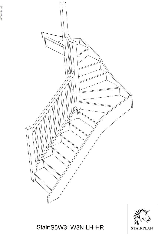 Best Tradestairs Lh Double Winder Hr Stair Plan Garden Tools 400 x 300