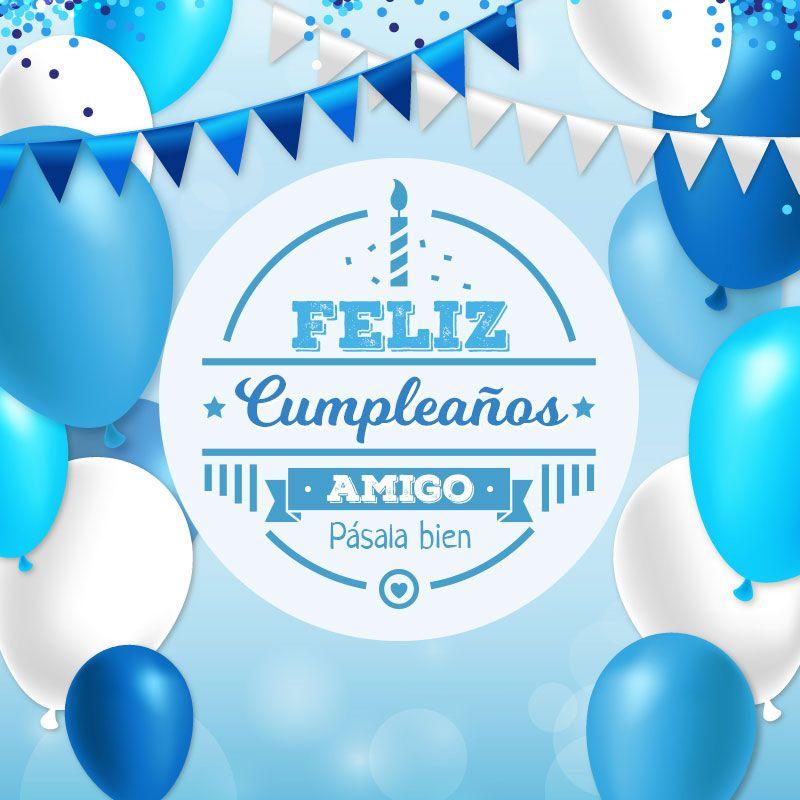 tarjeta de feliz cumpleaños para un amigo Frases Cumpleaños Happy birthday wishes, Happy