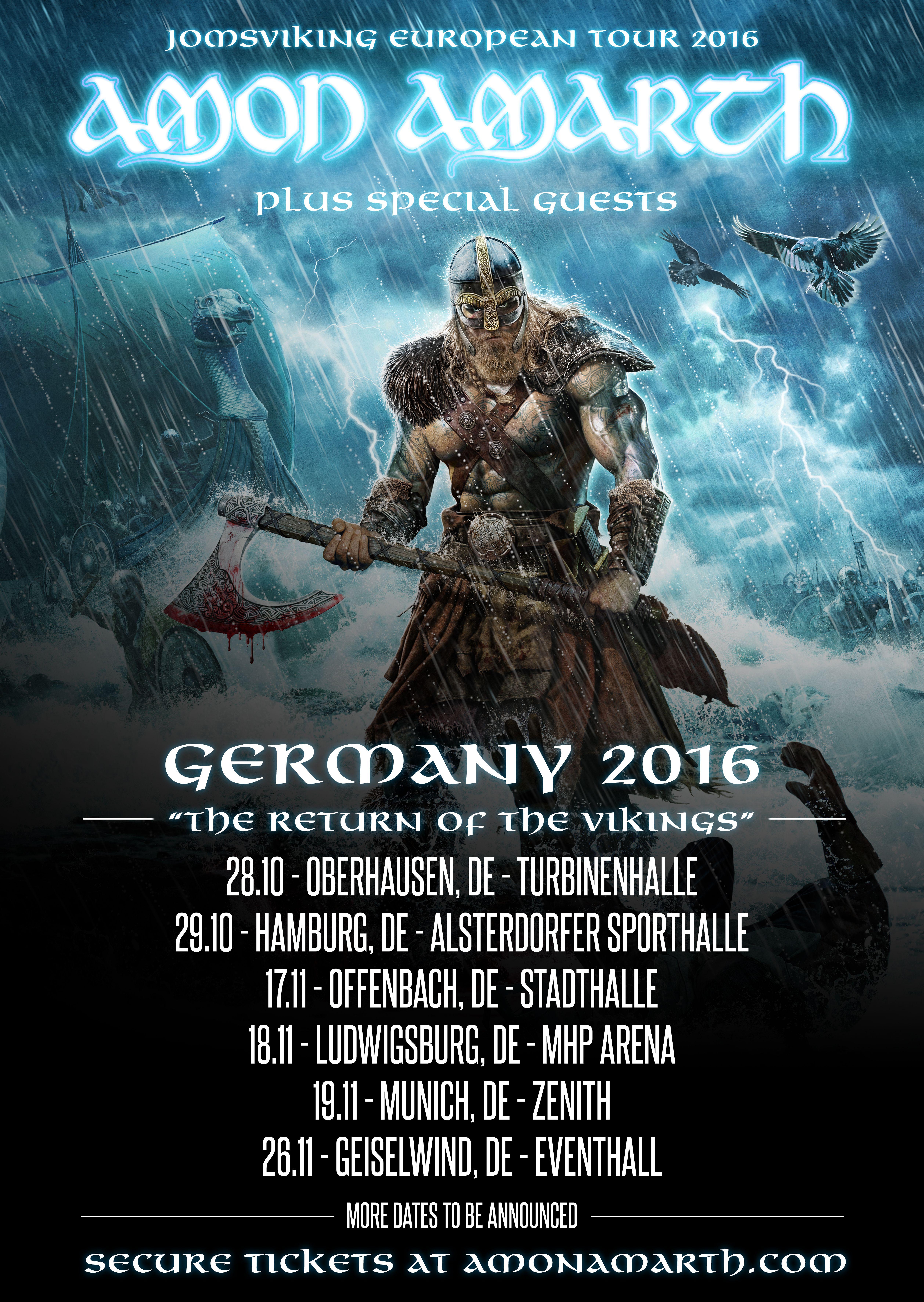Amon Amarth Kommen Auf Jomsviking Europa Tour Tickets Ab