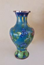 Perfect for the bedroom. Vintage Cloisonné Vase