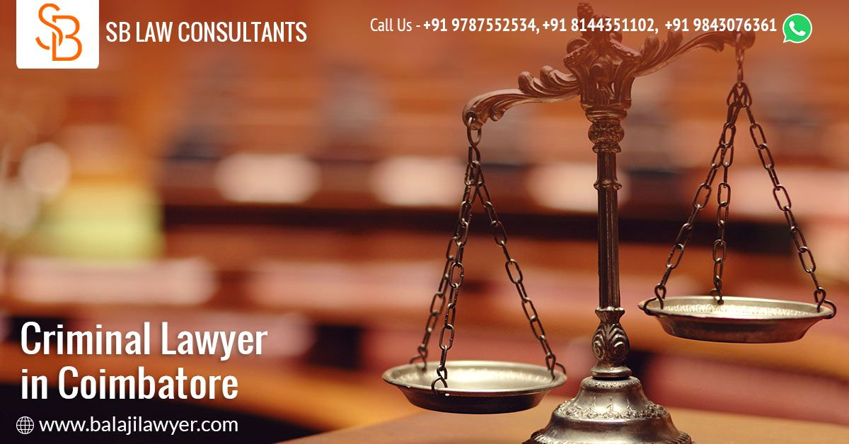 Balaji Lawyer Is The Best Criminal Lawyer In Coimbatore Expertise